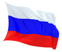 russia fluttering flag 240